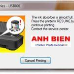 Phần mềm reset máy in Canon ip2770 hiện tượng báo lỗi 5B00